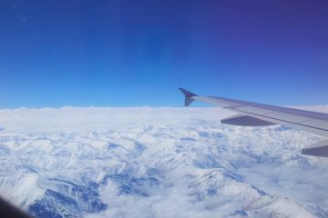 Vista de los Andes desde el avión